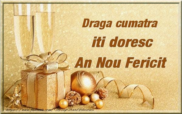 Felicitari frumoase de Anul Nou pentru Cumatra | Draga cumatra iti urez un An Nou Fericit