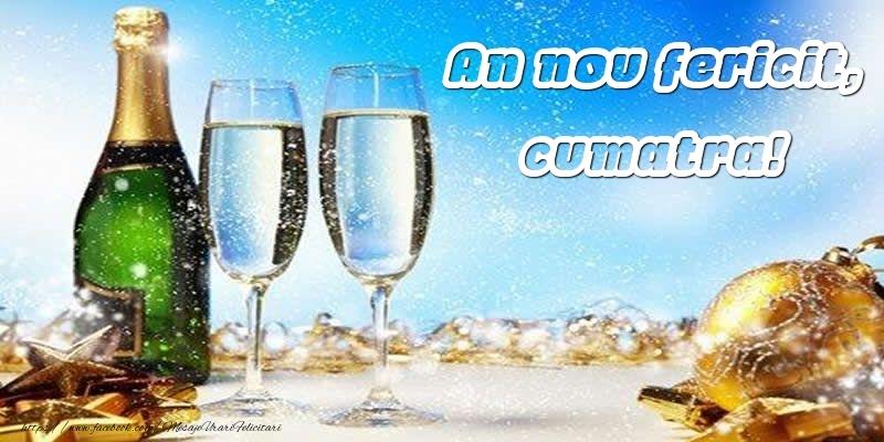 Felicitari frumoase de Anul Nou pentru Cumatra | An nou fericit, cumatra!