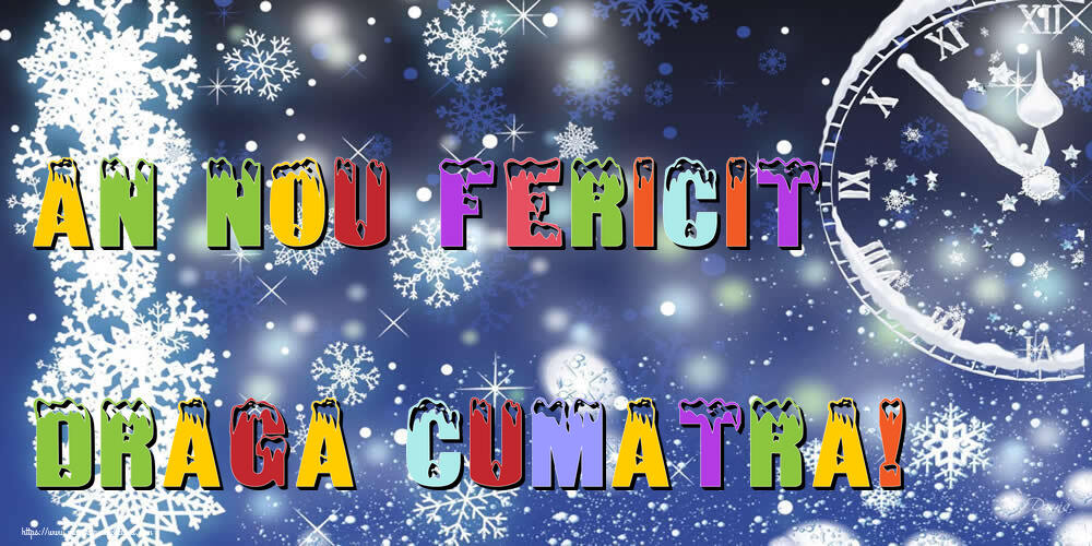 Felicitari frumoase de Anul Nou pentru Cumatra | An nou fericit draga cumatra!