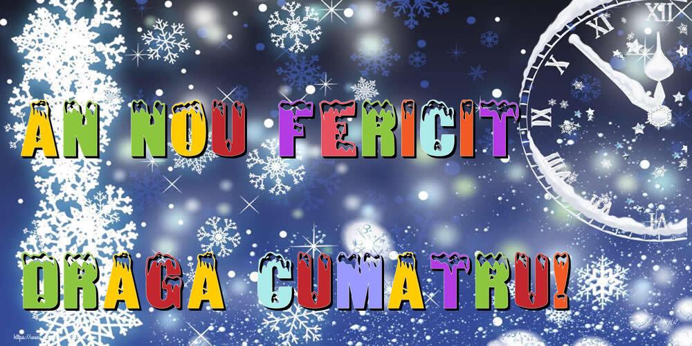 Felicitari frumoase de Anul Nou pentru Cumatru | An nou fericit draga cumatru!