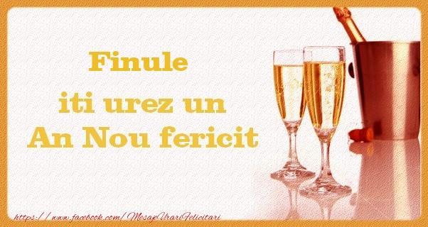 Felicitari frumoase de Anul Nou pentru Fin | Finule iti urez un An Nou fericit