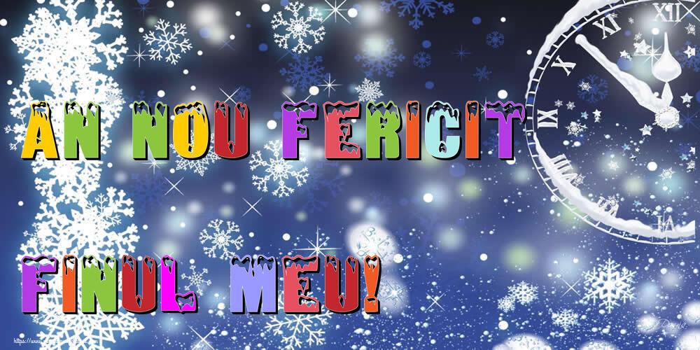 Felicitari frumoase de Anul Nou pentru Fin | An nou fericit finul meu!
