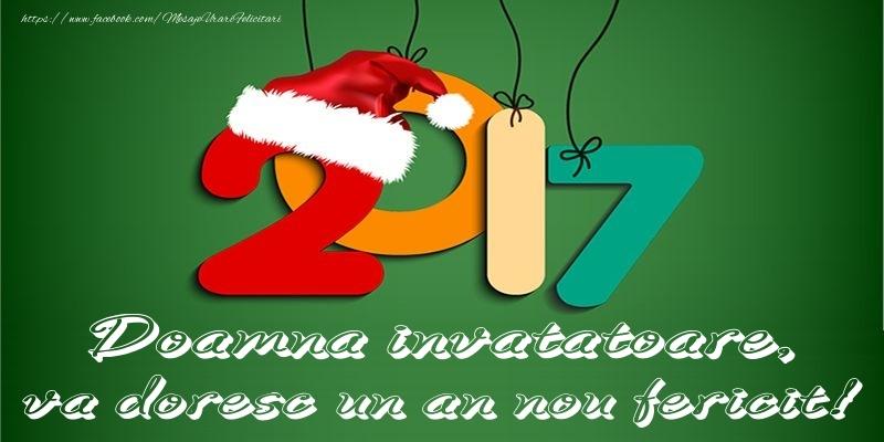 Felicitari frumoase de Anul Nou pentru Invatatoare | Doamna invatatoare, va doresc un an nou fericit!
