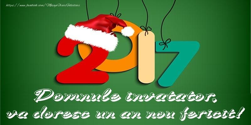 Felicitari frumoase de Anul Nou pentru Invatator | Domnule invatator, va doresc un an nou fericit!