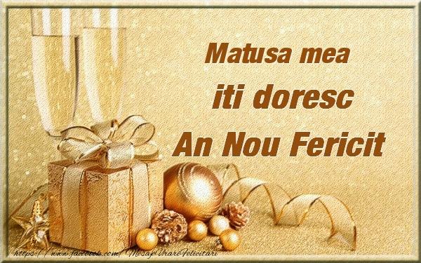 Felicitari frumoase de Anul Nou pentru Matusa | Matusa mea iti urez un An Nou Fericit