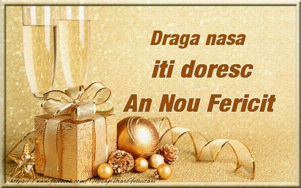 Felicitari frumoase de Anul Nou pentru Nasa | Draga nasa iti urez un An Nou Fericit