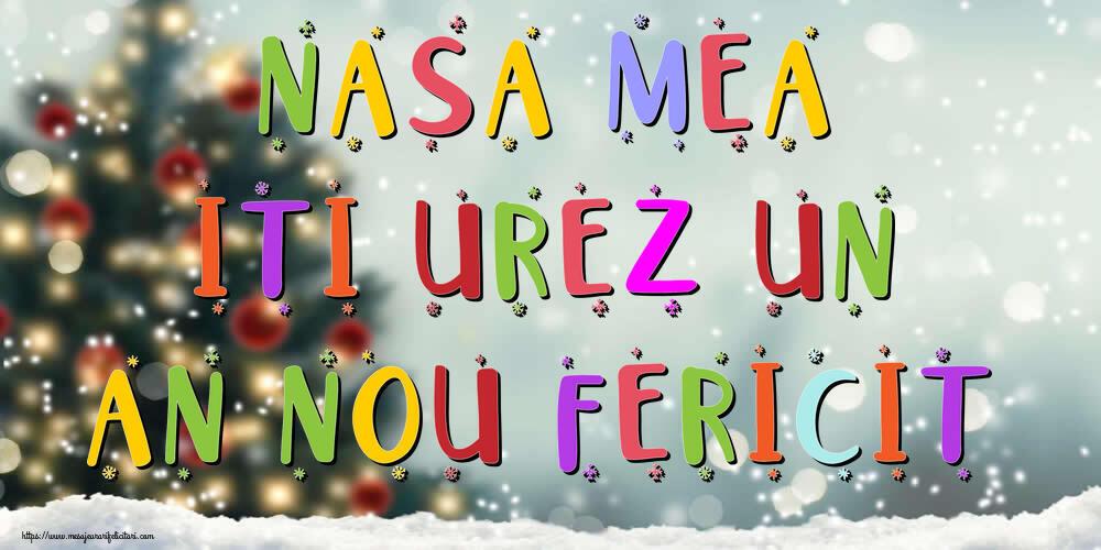 Felicitari frumoase de Anul Nou pentru Nasa | Nasa mea, iti urez un An Nou Fericit!