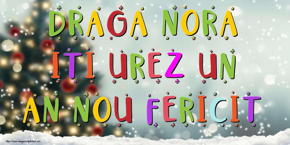 Felicitari frumoase de Anul Nou pentru Nora   Draga nora, iti urez un An Nou Fericit!