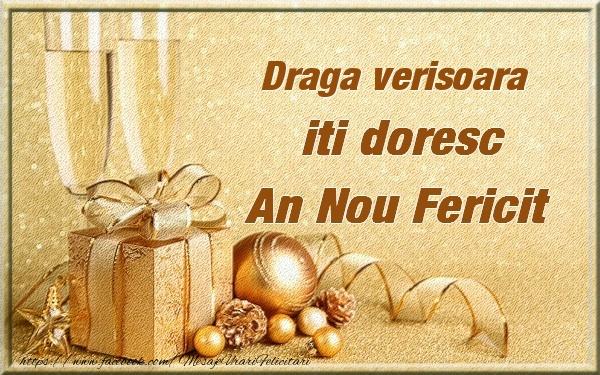 Felicitari frumoase de Anul Nou pentru Verisoara | Draga verisoara iti urez un An Nou Fericit