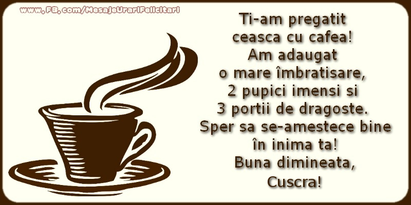 Felicitari frumoase de buna dimineata pentru Cuscra | Buna dimineata, cuscra!