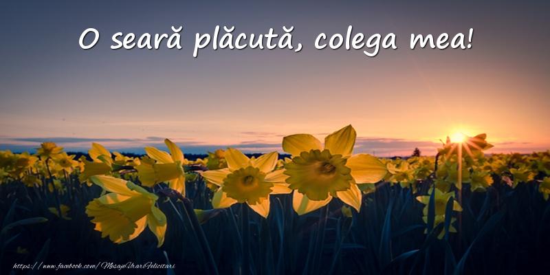 Felicitari frumoase de buna seara pentru Colega | Flori: O seară plăcută, colega mea!