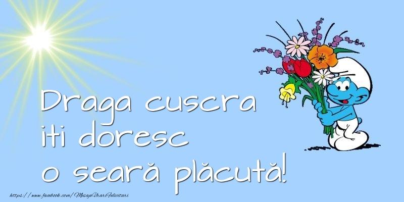 Felicitari frumoase de buna seara pentru Cuscra | Draga cuscra iti doresc o seară plăcută!