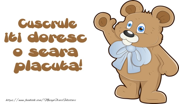 Felicitari frumoase de buna seara pentru Cuscru | Cuscrule iti doresc  o seara placuta!
