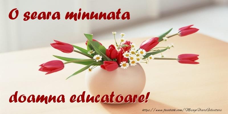 Felicitari frumoase de buna seara pentru Educatoare | O seara minunata doamna educatoare!