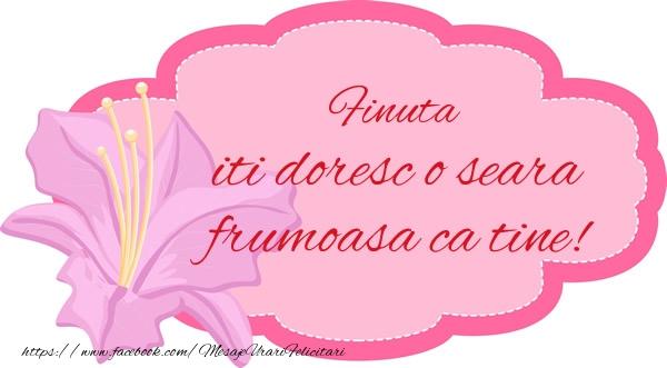 Felicitari frumoase de buna seara pentru Fina | Finuta iti doresc o seara frumoasa ca tine!