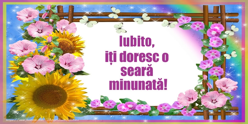 Felicitari frumoase de buna seara pentru Iubita | Iubito, iți doresc o seară minunată!
