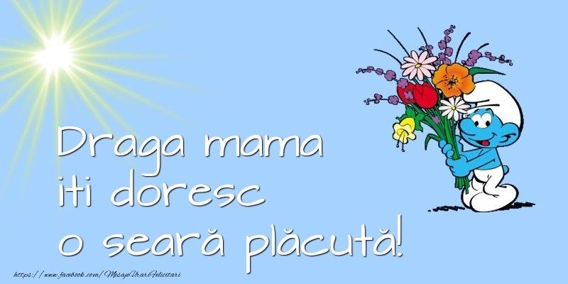 Felicitari frumoase de buna seara pentru Mama | Draga mama iti doresc o seară plăcută!