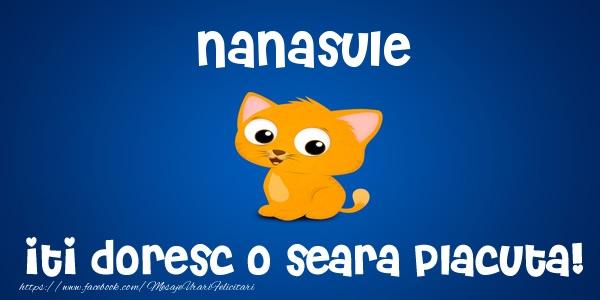 Felicitari frumoase de buna seara pentru Nas | Nanasule iti doresc o seara placuta!
