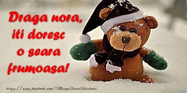 Felicitari frumoase de buna seara pentru Nora | Draga nora iti doresc o seara frumoasa!