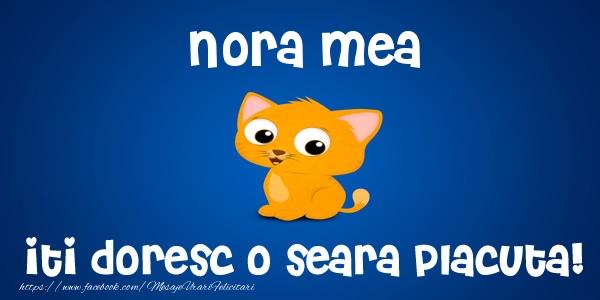 Felicitari frumoase de buna seara pentru Nora | Nora mea iti doresc o seara placuta!