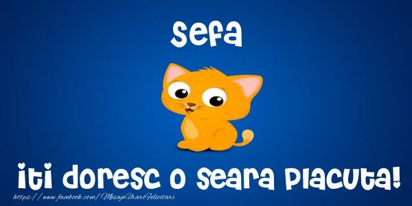 Felicitari frumoase de buna seara pentru Sefa | Sefa iti doresc o seara placuta!