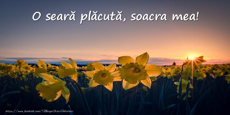 Felicitari frumoase de buna seara pentru Soacra | Flori: O seară plăcută, soacra mea!
