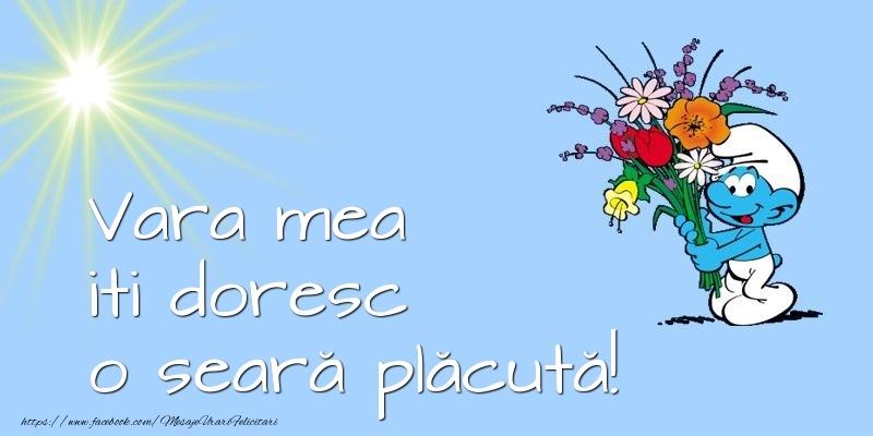 Felicitari frumoase de buna seara pentru Verisoara | Vara mea iti doresc o seară plăcută!