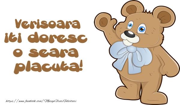 Felicitari frumoase de buna seara pentru Verisoara | Verisoara iti doresc  o seara placuta!