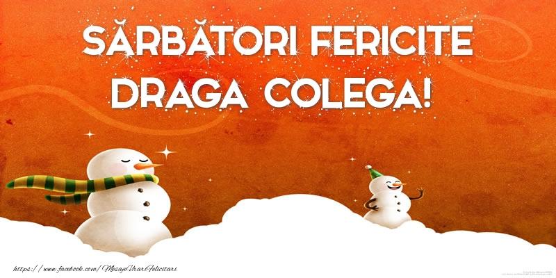 Felicitari frumoase de Craciun pentru Colega | Sărbători Fericite draga colega!