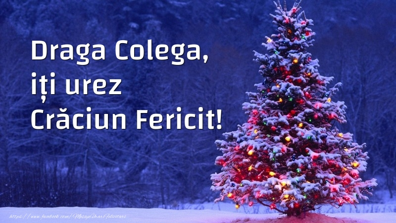 Felicitari frumoase de Craciun pentru Colega | Draga colega, iți urez Crăciun Fericit!