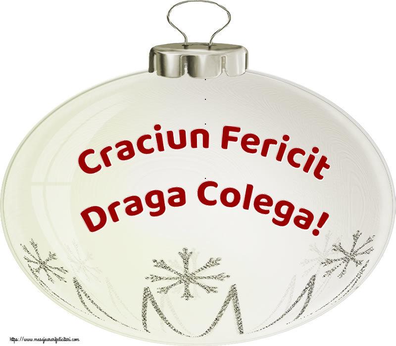 Felicitari frumoase de Craciun pentru Colega | Craciun Fericit draga colega!