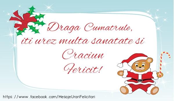 Felicitari frumoase de Craciun pentru Cumatru | Cumatrule iti urez multa sanatate si Craciun Fericit!