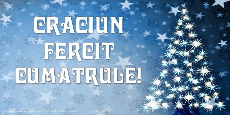 Felicitari frumoase de Craciun pentru Cumatru | Craciun Fericit cumatrule!