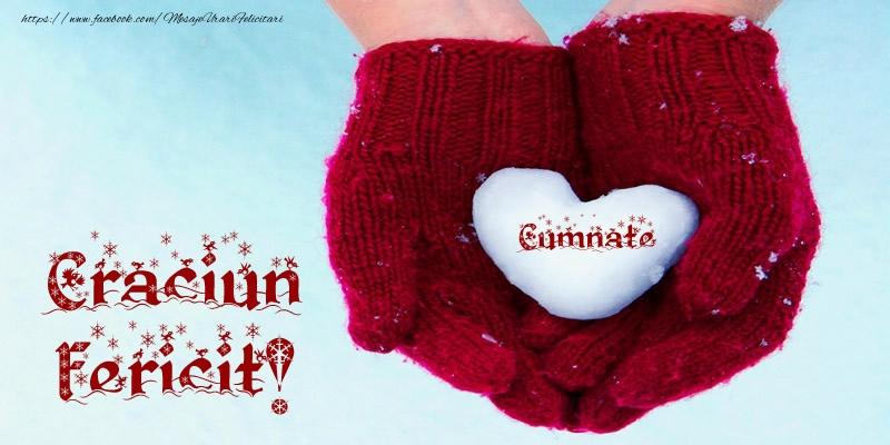 Felicitari frumoase de Craciun pentru Cumnat | Cumnate Inimoara Craciun Fericit!