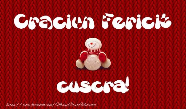Felicitari frumoase de Craciun pentru Cuscra   Craciun Fericit cuscra!