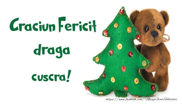 Felicitari frumoase de Craciun pentru Cuscra | Craciun Fericit draga cuscra!