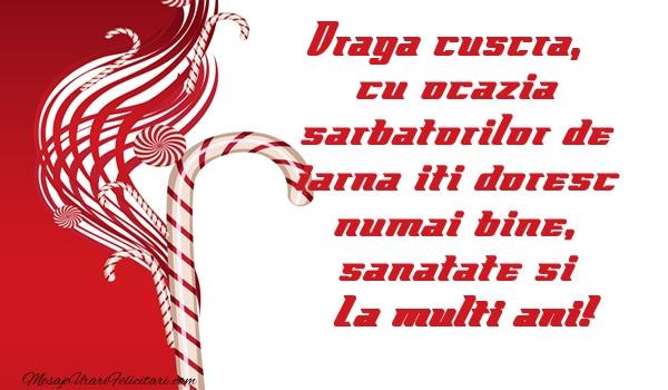 Felicitari frumoase de Craciun pentru Cuscra | Draga cuscra cu ocazia  sarbatorilor de iarna iti doresc numai bine, sanatate si La multi ani!