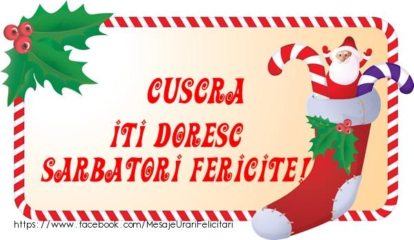 Felicitari frumoase de Craciun pentru Cuscra | Cuscra Iti Doresc Sarbatori Fericite!
