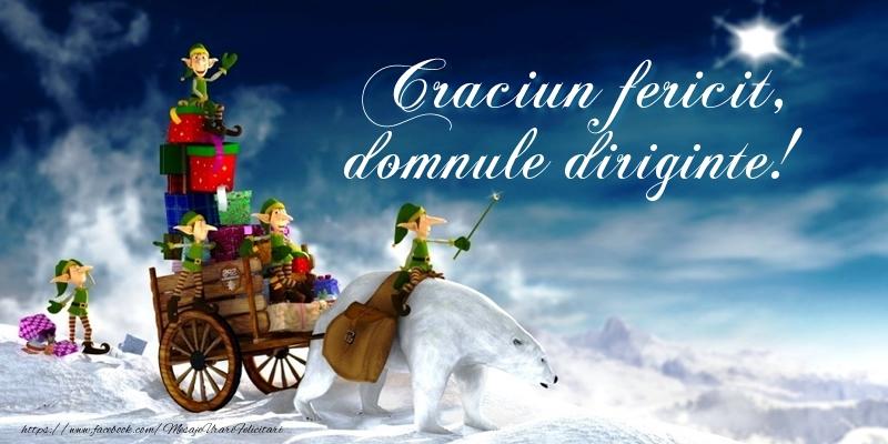 Felicitari frumoase de Craciun pentru Diriginte | Craciun fericit, domnule diriginte!