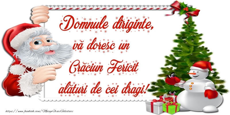 Felicitari frumoase de Craciun pentru Diriginte | Domnule diriginte, vă doresc un Crăciun Fericit alături de cei dragi!