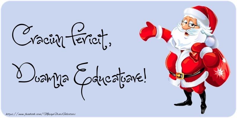 Felicitari frumoase de Craciun pentru Educatoare | Craciun Fericit, doamna educatoare