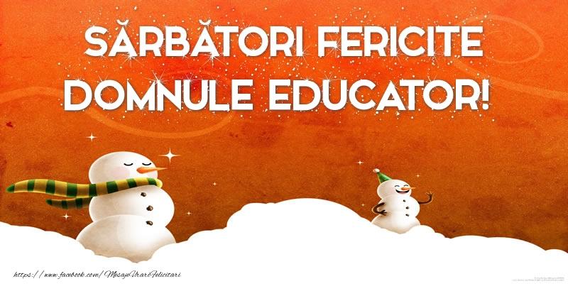Felicitari frumoase de Craciun pentru Educator | Sărbători Fericite domnule educator!