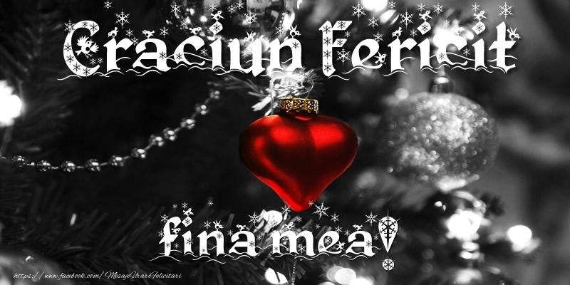 Felicitari frumoase de Craciun pentru Fina | Craciun Fericit fina mea!