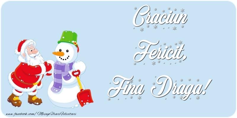 Felicitari frumoase de Craciun pentru Fina | Craciun Fericit, fina draga