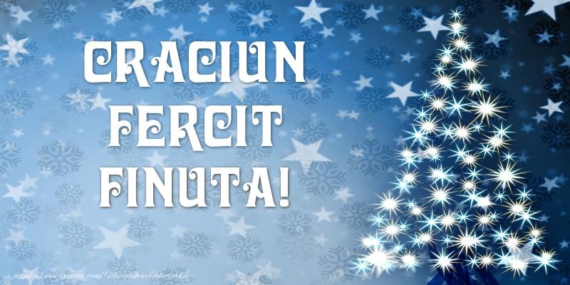 Felicitari frumoase de Craciun pentru Fina | Craciun Fericit finuta!