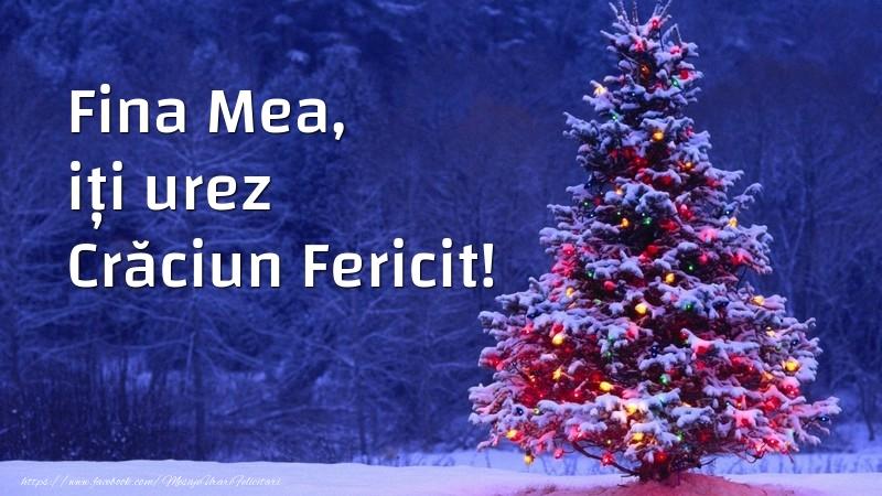 Felicitari frumoase de Craciun pentru Fina | Fina mea, iți urez Crăciun Fericit!