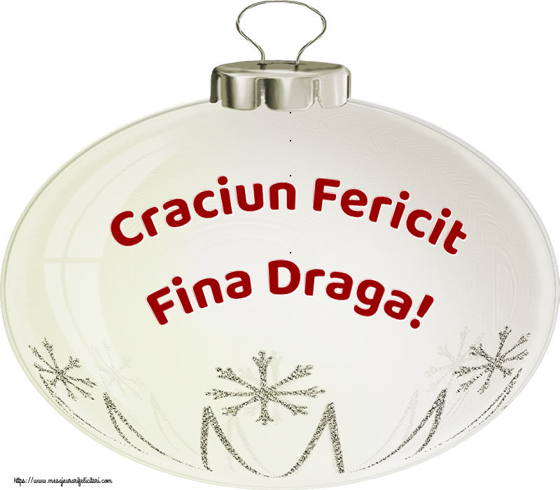 Felicitari frumoase de Craciun pentru Fina | Craciun Fericit fina draga!