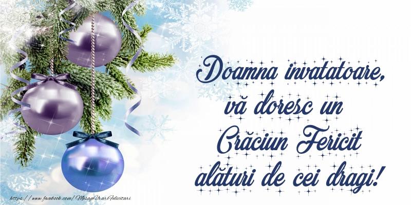 Felicitari frumoase de Craciun pentru Invatatoare | Doamna invatatoare, vă doresc un Crăciun Fericit alături de cei dragi!