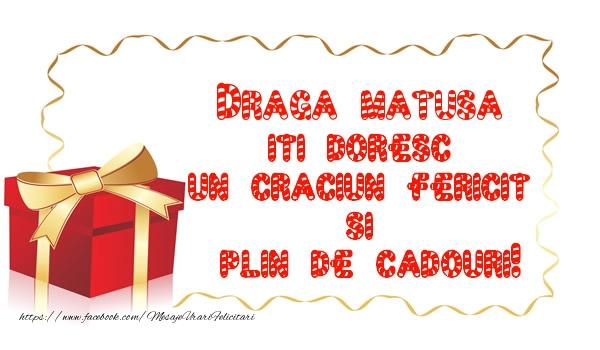 Felicitari frumoase de Craciun pentru Matusa | Draga matusa iti doresc un Craciun Fericit  si  plin de cadouri!