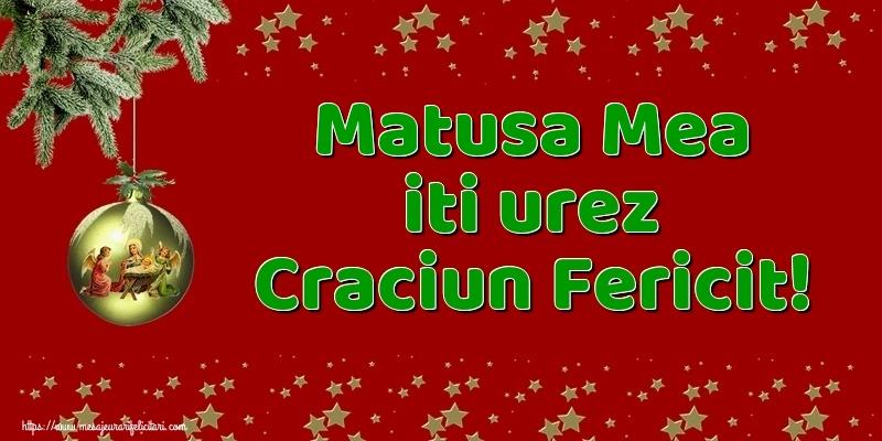 Felicitari frumoase de Craciun pentru Matusa | Matusa mea iti urez Craciun Fericit!